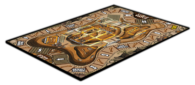 FOSSIL FIND gameboard-3D